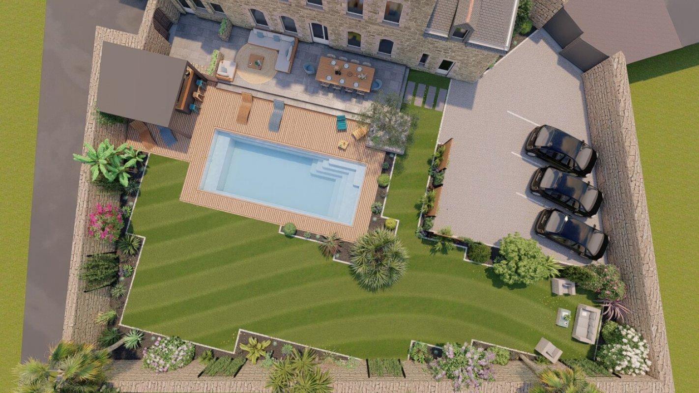 architecte paysagiste morbihan d paysage conoit et ralise de votre jardin patio balcon arbor. Black Bedroom Furniture Sets. Home Design Ideas