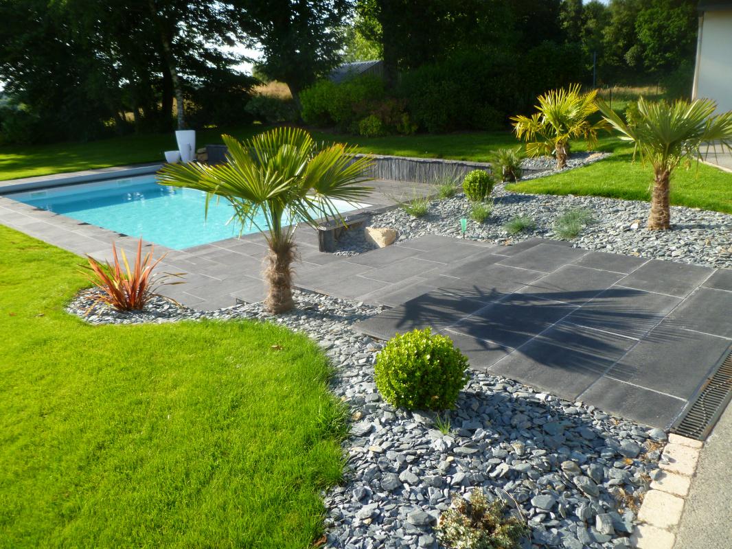 Creation D Un Jardin Avec Terrasse Et Piscine Vannes 3d