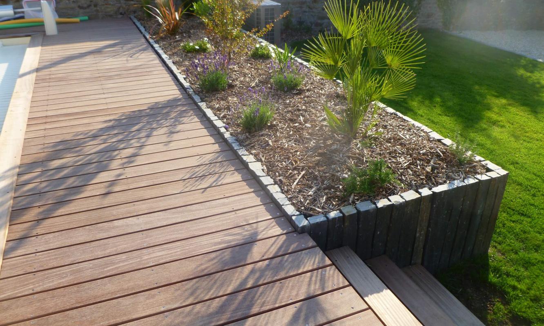 Amenagement D Un Jardin Avec Terrasse En Bois Vannes 3d