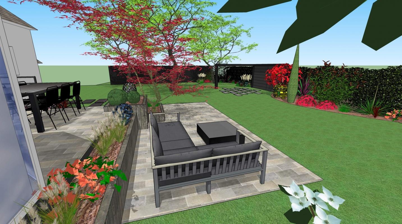 Terrasse en escalier vannes 3d paysage - Paysager son jardin logiciel gratuit ...